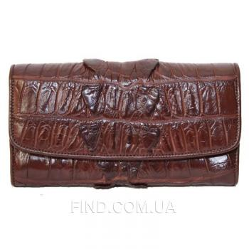 Женский кошелек из кожи крокодила (PCM 03 BT Brown)