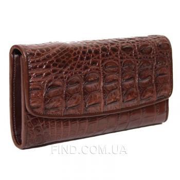 Женский кошелек из кожи крокодила (PCM 03 TH Brown)