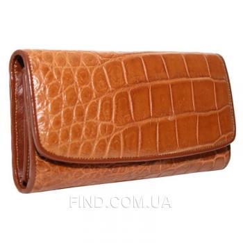 Женский кошелек из кожи крокодила (PCM 03 B Golden Tan)