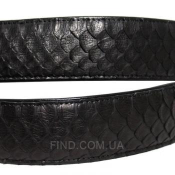 Мужской ремень из кожи питона (105 PTB Black)