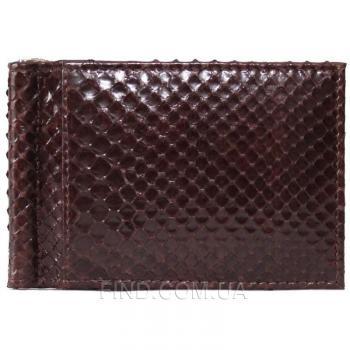 Зажим для купюр из кожи питона (PTMC 01 Brown)