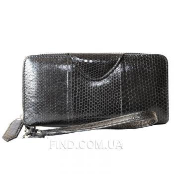 Женский кошелек из кожи морской змеи (SN 11-3 Black)