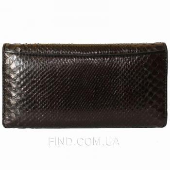 Женский кошелек из кожи питона (PT 52 Black)