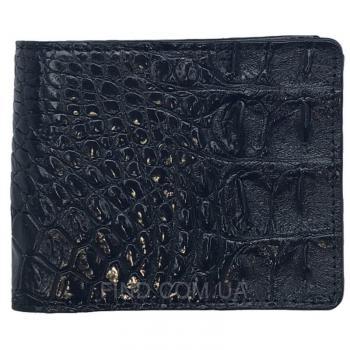 Мужское портмоне из кожи сиамского крокодила (ALM 03-2 BS Black)