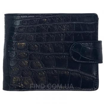 Мужское портмоне из кожи крокодила (ALM 03-3 B Black)