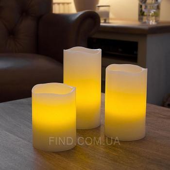 Светодиодные свечи с запахом ванили с таймером (набор 3 шт.) R5-0046