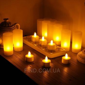 Светодиодные led свечи чайные с аккумулятором (набор 12 шт.) R5-0053