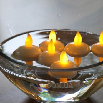 Светодиодные плавающие led свечи чайные (набор 12 шт.)