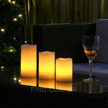 Светодиодные led свечи с эффектом задувания (набор 3 шт.) R5-0060