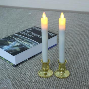 Светодиодные свечи с имитацией пламени тонкие (набор 2 шт.) R5-0067