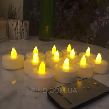 Светодиодные led свечи с пультом ДУ (набор 12 шт.)