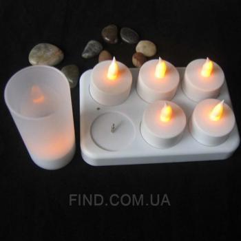 Светодиодные led свечи чайные аккумуляторные (набор 6 шт.)