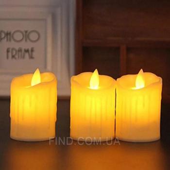 Светодиодная свеча с имитацией пламени 5W44 (набор 3 шт.)