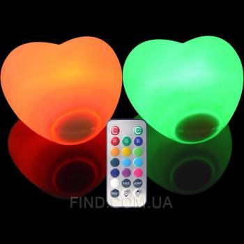 Водонепроницаемый светодиодный светильник Heart87W2 на батарейках с пультом ДУ (набор 2 шт.)