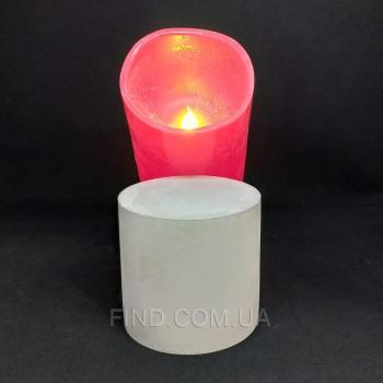 Напольная светодиодная свеча восковая Venus 20см красная