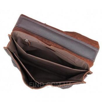 Мужской кожаный портфель TIDING BAG (7090R)