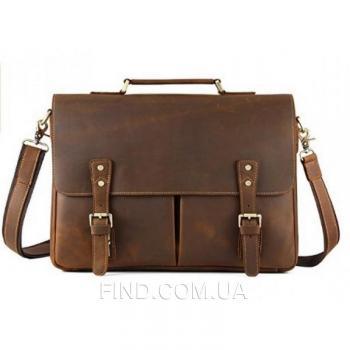Мужской кожаный портфель TIDING BAG (t0016)