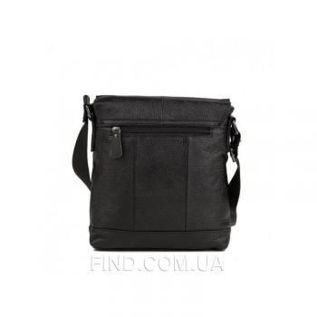 Черный кожаный мессенджер Tiding Bag (M38-8136A)