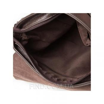 Коричневый кожаный мессенджер Tiding Bag (M38-8136C)