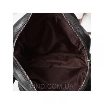 Черный кожаный мессенджер Tiding Bag (M38-8861A)