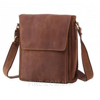 Коричневый кожаный мессенджер Tiding Bag (7055B-1)