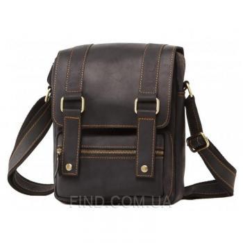 Коричневый кожаный мужской мессенджер Tiding Bag (T1172A)