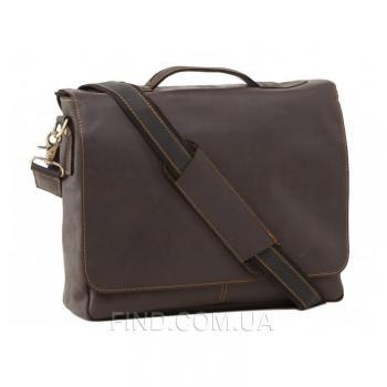 Черная кожаная мужская сумка Tiding Bag (7108A-1)