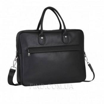 Черная кожаная мужская сумка Tiding Bag (A25-17611A)