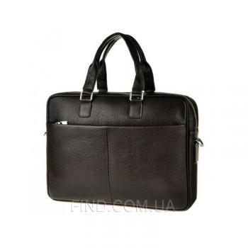 Коричневая кожаная мужская кожаная сумка Tiding Bag (M2164C)