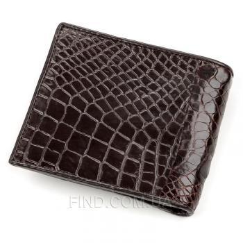 Мужское портмоне из натуральной кожи крокодила (18196)