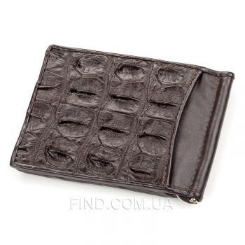 Зажим для купюр из натуральной кожи крокодила (18170)