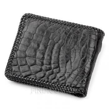 Мужское портмоне из натуральной кожи крокодила (18004)