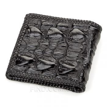 Мужское портмоне из натуральной кожи крокодила (18186)