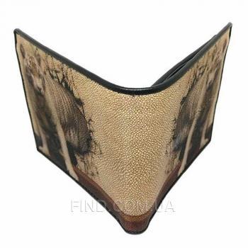 Мужской кошелек из кожи морского ската (18130)