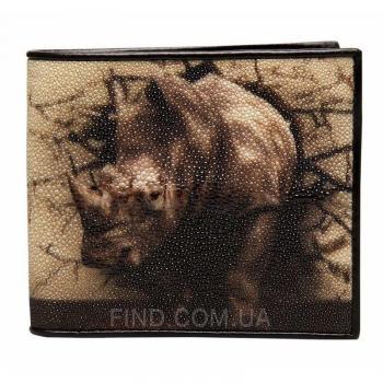 Мужской кошелек из кожи морского ската (18129)