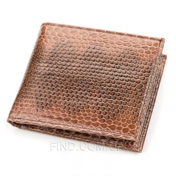 Мужской кошелек из натуральной кожи морской змеи (18142)