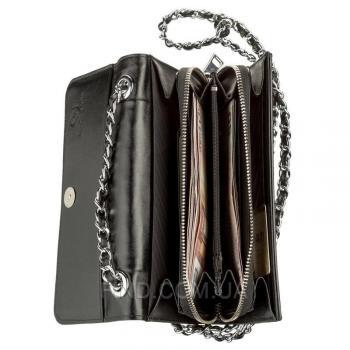 Женская сумка-клатч из натуральной кожи морского ската со вставками кожи питона (18504)